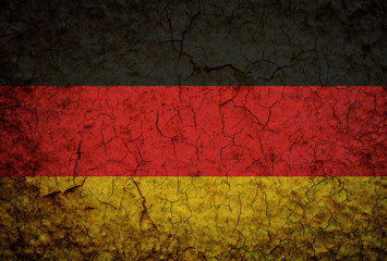 Germany Flag painted on grunge wall