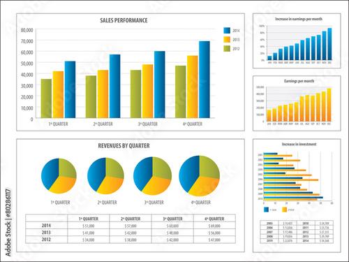 Zdjęcia na płótnie, fototapety, obrazy : Report with financial investment chart