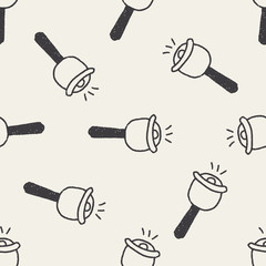 bell doodle drawing seamless pattern background