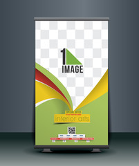 Interior Art Roll Up Banner Design