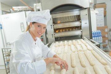 Behind the scenes in a bakery
