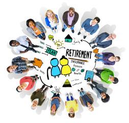 Diversity Casual People Retirement Vision Aspiration Concept