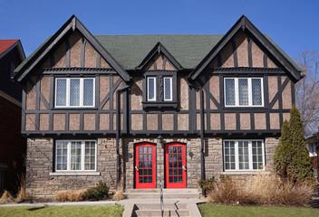 Tudor style twin houses