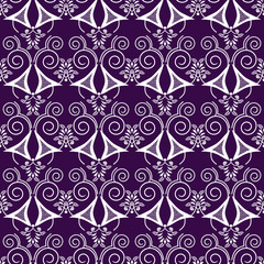 Retro white elements background abstract geometric seamless patt