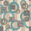 Abstract elegance retro seamless pattern patchwork design backgr