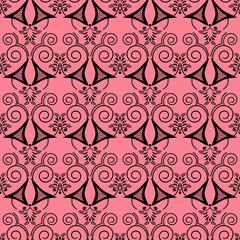 Retro black elements background abstract geometric seamless patt