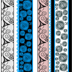 Patchwork vertical design seamless pattern ornament background