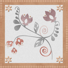 Oriental traditional floral ornament seamless pattern, tile desi
