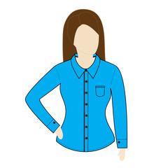 Female shirt template