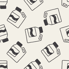 Laundry detergent doodle drawing seamless pattern background