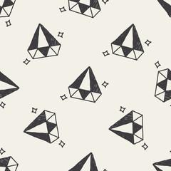 diamond doodle drawing seamless pattern background