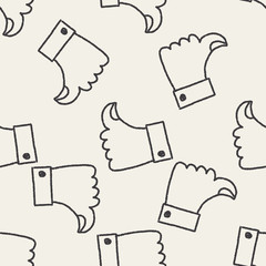 Like thumb doodle drawing seamless pattern background