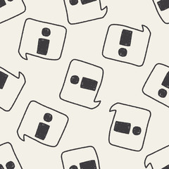 information doodle drawing seamless pattern background