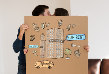 Renting and credit concept