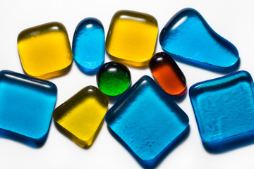 Glass colored stones