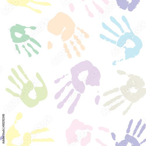 Handabdrücke von Kindern bunt muster © K.C.