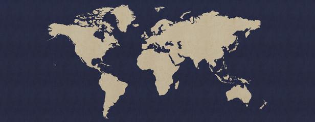 Landkarte / Kontinente