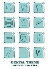 icons set for dental medicine