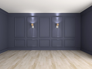 Empty interior 3d rendering