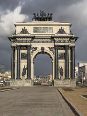 Город Москва. Россия. Триумфальная арка.