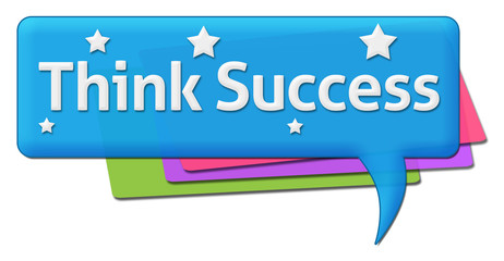 Think Success Colorful Comment Symbol