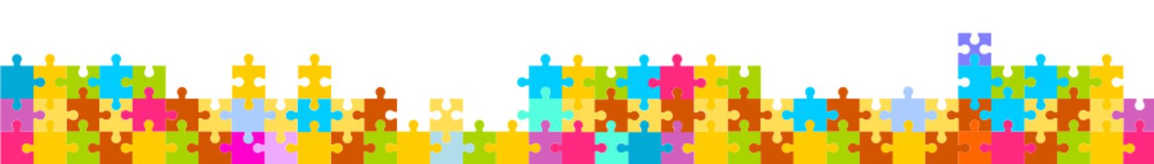 puzzle banner panorama bunt