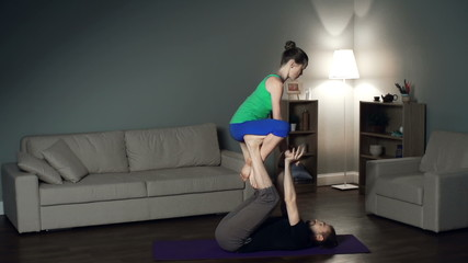 Acroyoga Bird Pose