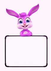 Easter Bunny with sign board