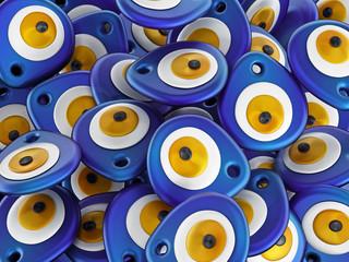 Evil Eye or Nazar amulet stack