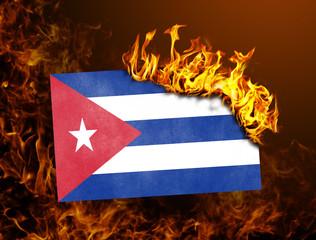 Flag burning - Cuba