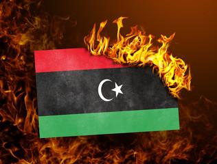 Flag burning - Libya