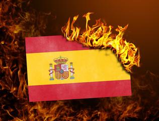 Flag burning - Spain