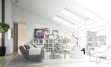 Dachgeschoss-Ausbau (Entwurf) - 80297712