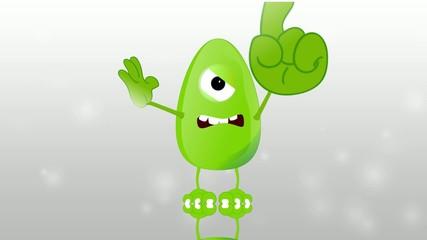Monster Fred evil talking index finger explain