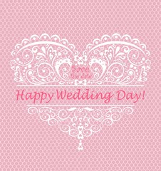 Beautiful greeting for wedding day