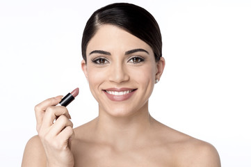 Beauty woman with lipstick