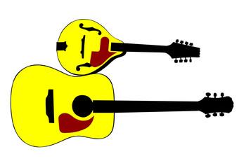 Mandolin and guitar