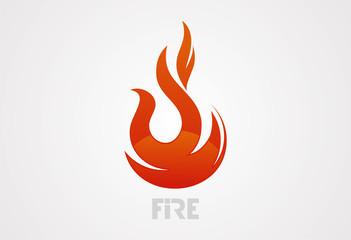 Fire logo vector illustration