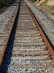 Railroad tracks perspective