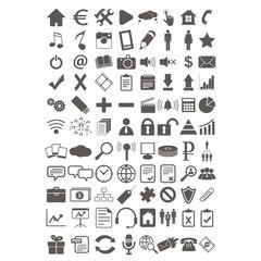 Webdesign flat icons set
