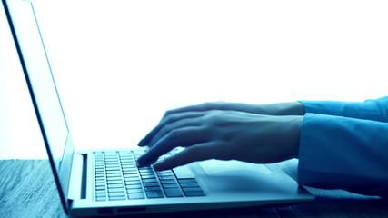 Typing On Modern Laptop