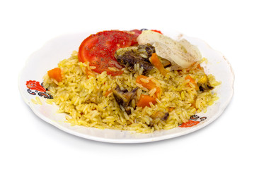 food, rice on a plate