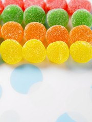 multicolor of soft candy coated with sugar