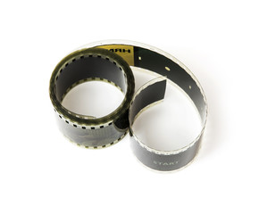 Isolated 8mm film tape
