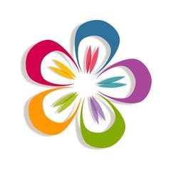 Flower. Abstract Logo design
