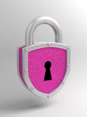 розовый висячий замок