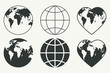 Earth icons. - 80303964