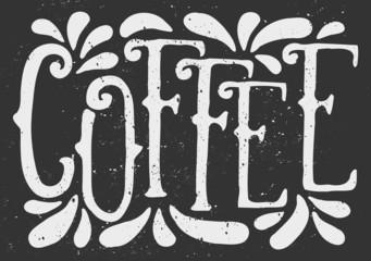 Chalkboard Style Coffee Typographic Design