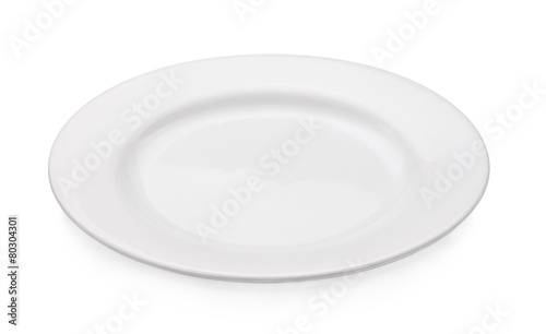 empty plate isolated on a white background - 80304301