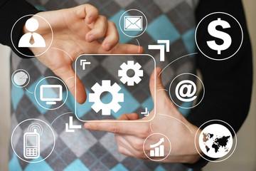 Button engineering business communication virtual.
